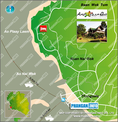 Stone Hill Resort and Amstardam Bar Location Map