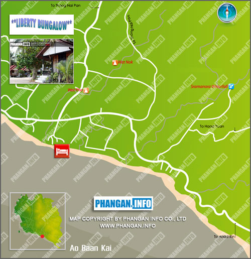 Liberty Bungalows Location Map