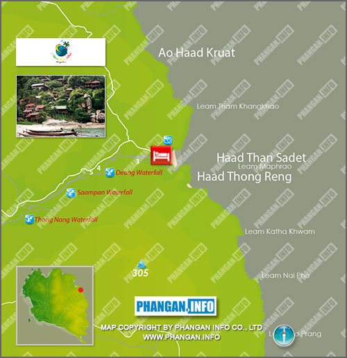 Mai Pen Rai Bungalows Location Map