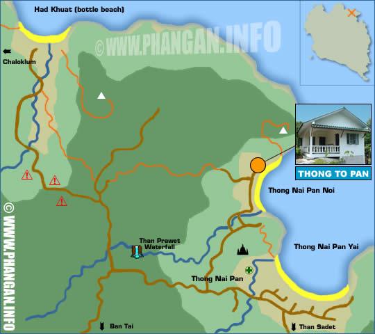 Thongtapan Resort Location Map