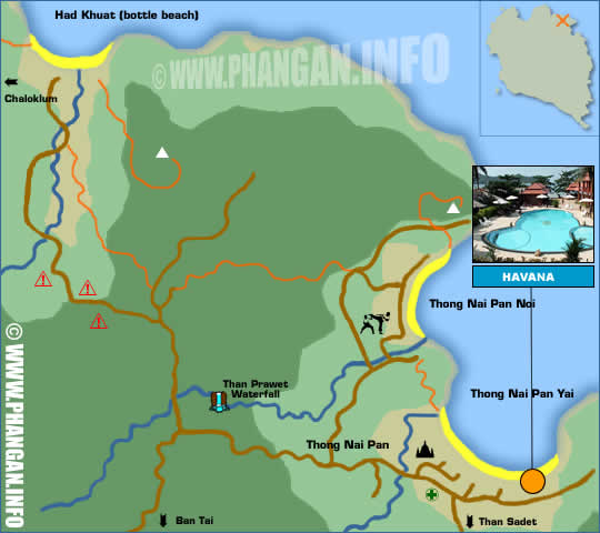Havana Beach Resort Location Map