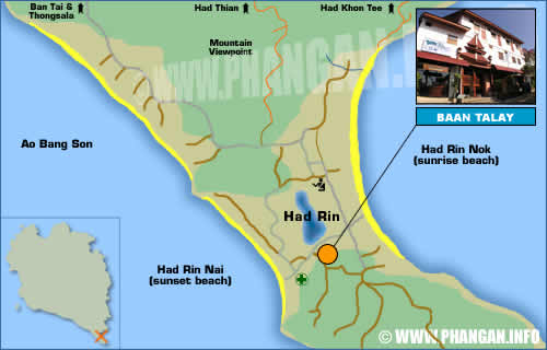 Baan Talay Guesthouse Location Map