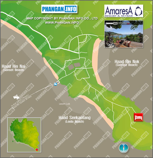 Amaresa Resort and Sky Bar Location Map