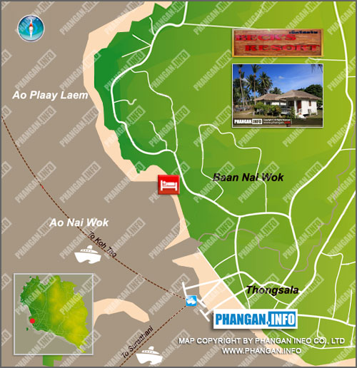 Becks Resort Location Map