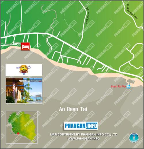 Holiday Beach Resort Location Map