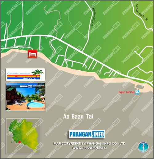Charm Beach Resort Location Map