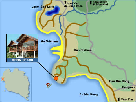 Moon Beach Resort Location Map