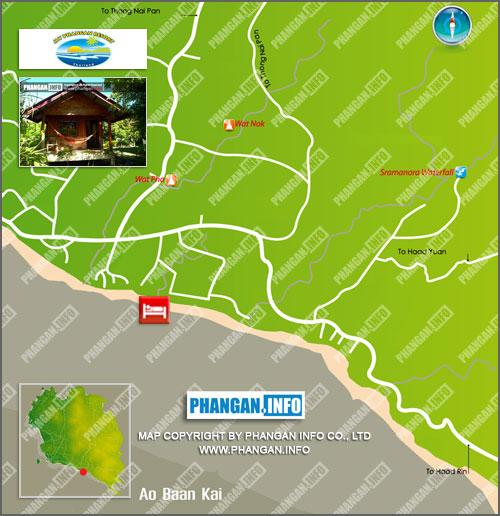 My Phangan Resort Location Map