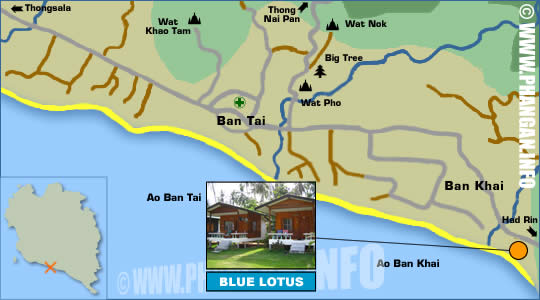 Blue Lotus Resort Location Map