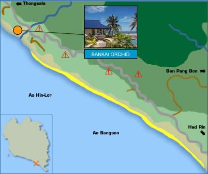 Phangan Orchid Resort Location Map