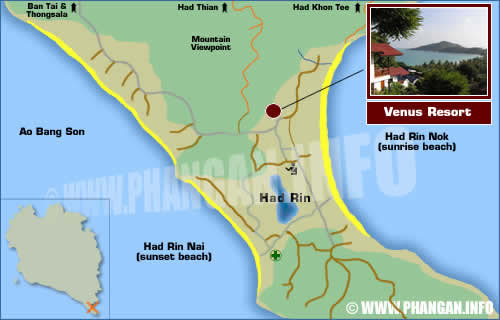 Venus Resort Location Map