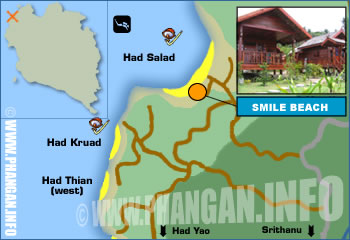 Smile Beach Resort (Haad Salad Resort) Location Map