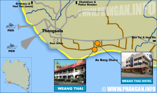 Weangthai Hotel Location Map
