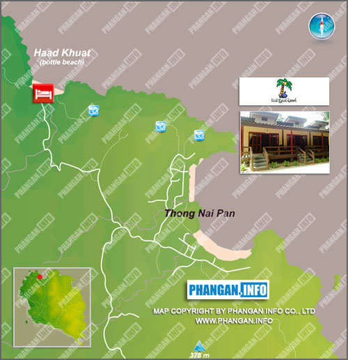 Haad Khuad Resort Location Map