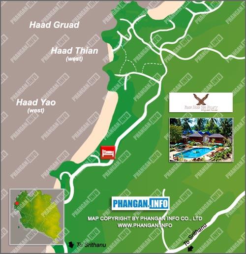 Baan Haad Yao Villas Location Map