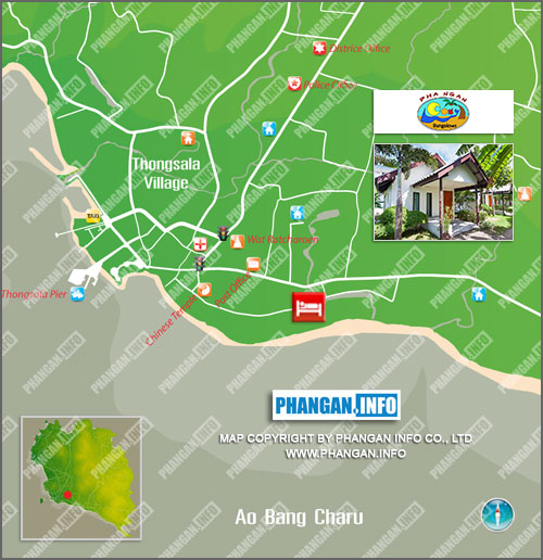 Phangan Cosy Bungalows Location Map