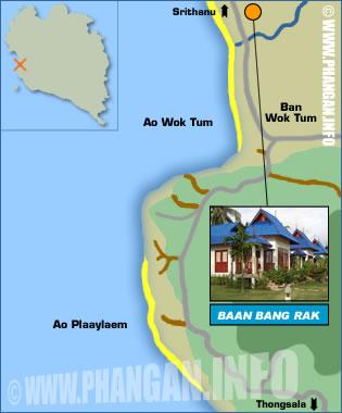 Baan Bang Rak Resort Location Map