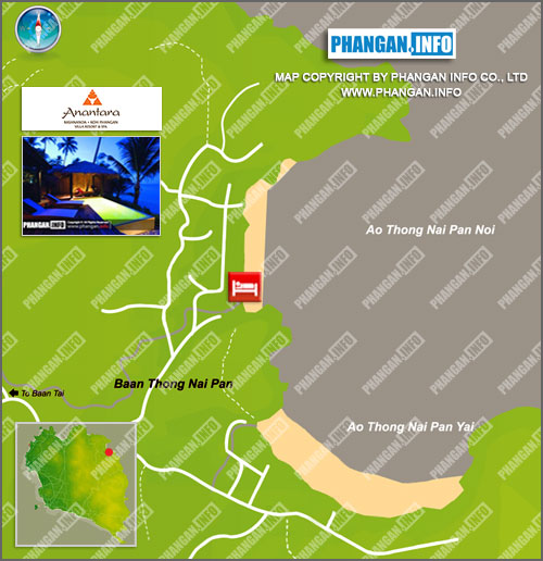 Anantara Rasananda Villa Resort Location Map
