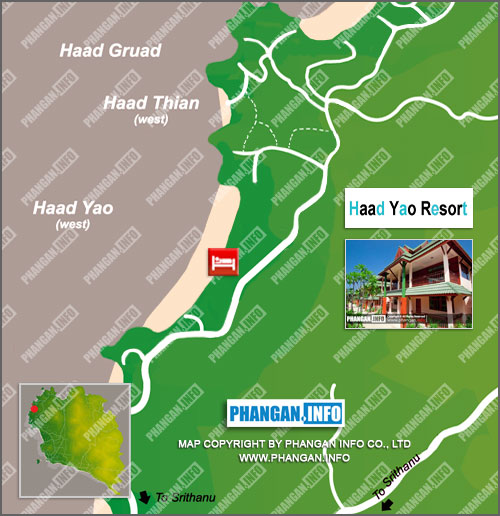 Haad Yao Resort Location Map