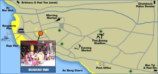Buakao Inn Location Map