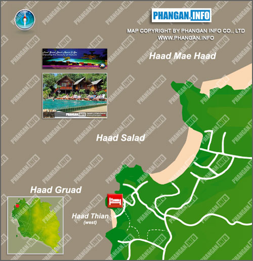 Haad Gruad Beach Resort(West Coast Beach Resort) Location Map