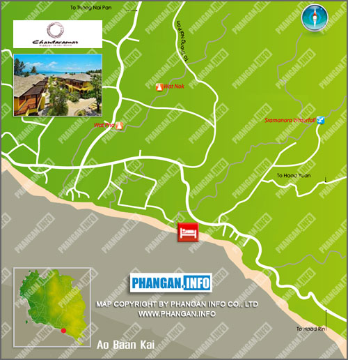 Chantaramas Resort Location Map
