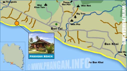 Phangan Beach Resort Location Map