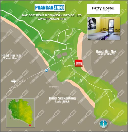 The Party Hostel Location Map