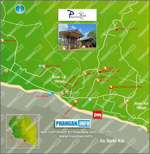 Phatcharee Resort Location Map