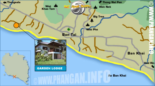 Fabios Garden Lodge Location Map