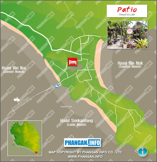 Palio Koh Phangan Location Map