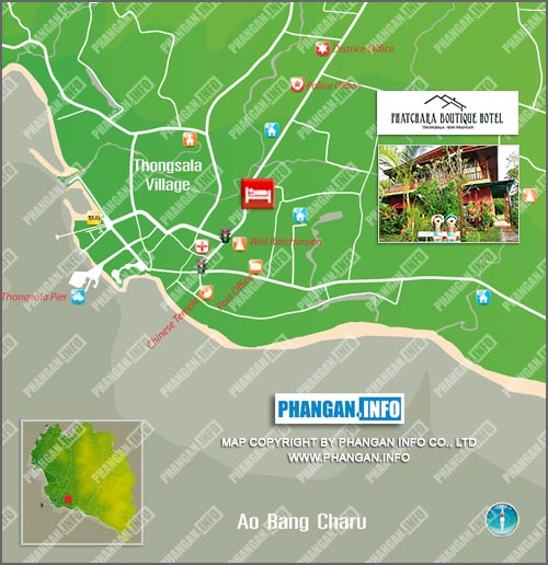 Phatchara Boutique Hotel Location Map