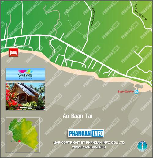 Coco Garden Resort Location Map