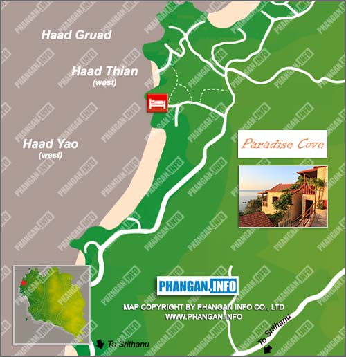 Paradise Cove Resort Location Map