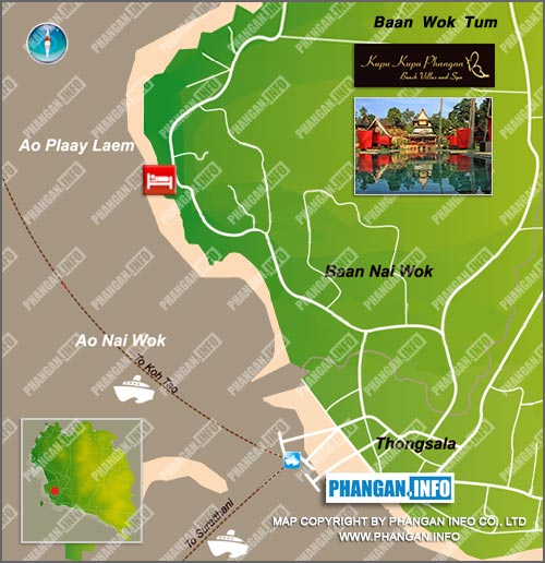 Kupu Kupu Beach Villas & Spa Koh Phangan Location Map
