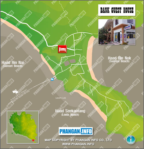 Bank Guesthouse Location Map