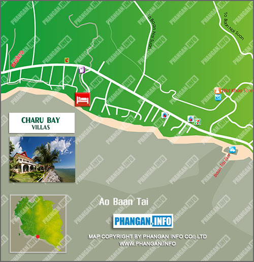 Charu Bay Villas Location Map
