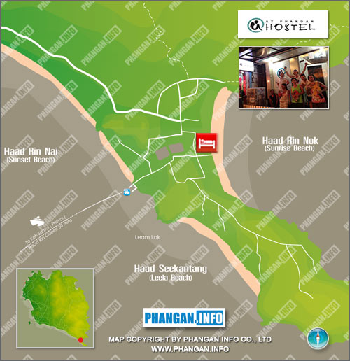 At Phangan Hostel Location Map