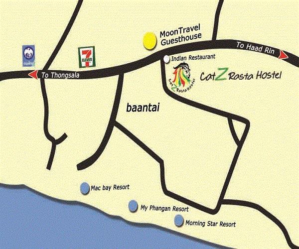 Catz Rasta Hostel Location Map