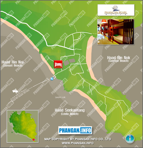 Phangan Pearl Location Map