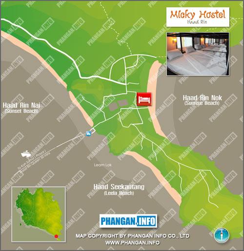 Micky Hostel Location Map