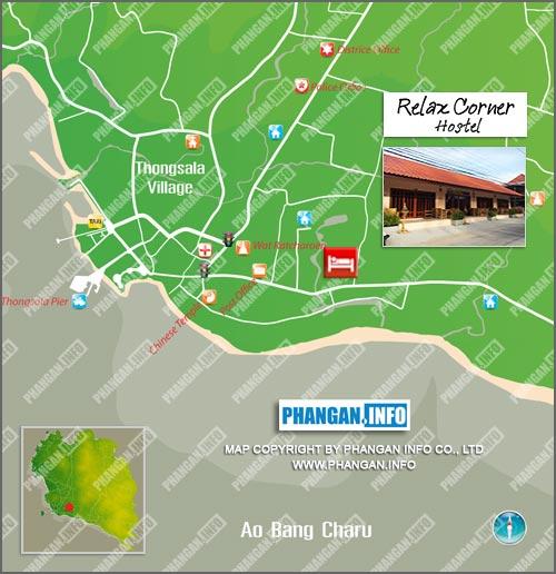 Relax Corner Hostel Location Map