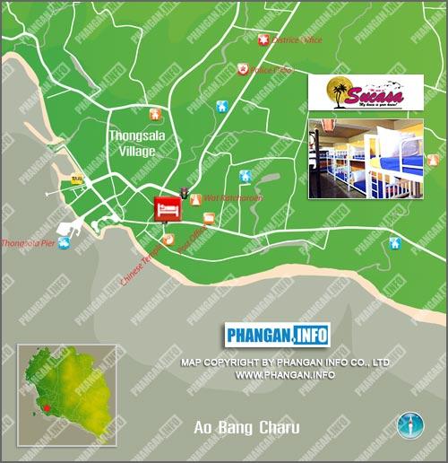 Sucasa Dorm Location Map