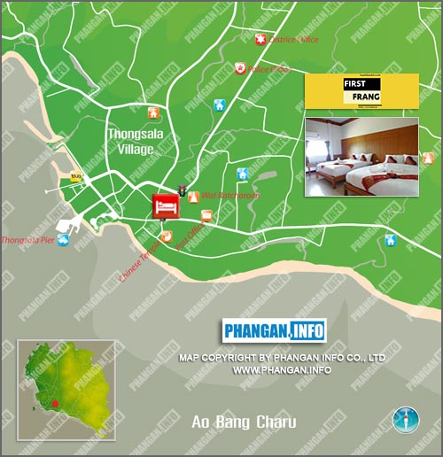 First & Frang Hotel Location Map