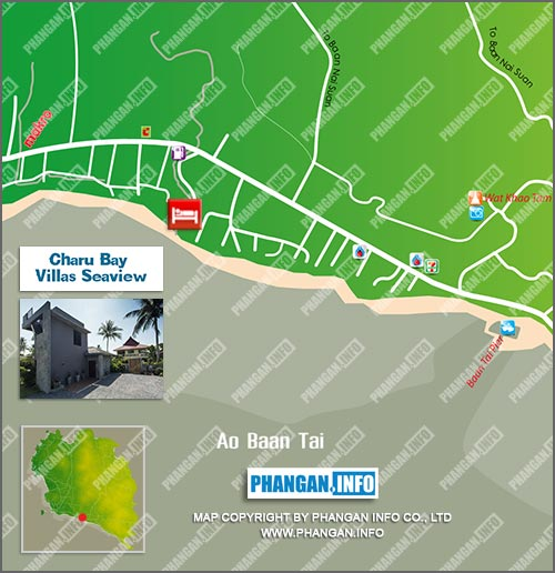 Charu Bay Villas Seaview Location Map