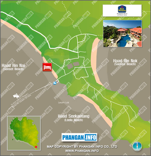 Buri Beach Resort (Sunset Beach Club Phangan) Location Map