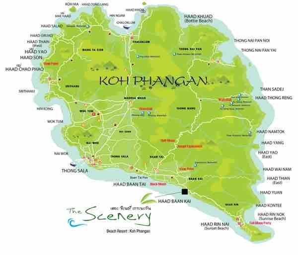 The Scenery Beach Resort Location Map