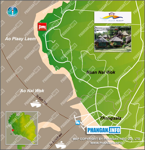 Sabai Beach Resort Location Map