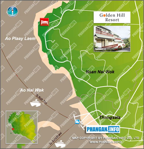 Golden Hill Resort Location Map