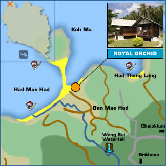 Royal Orchid Resort Location Map